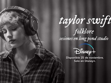 folklore: sesiones en long pond studio de Taylor Swift se estrena mañana exclusivamente en Disney+