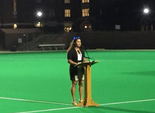 Honor Council Chair Presents Welcome Speech to Class of 2020