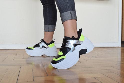 Zapatillas Rossi negro/neon