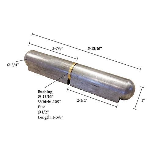 """Bullet Hinge With Brass Pin & Bushing 6"""""""