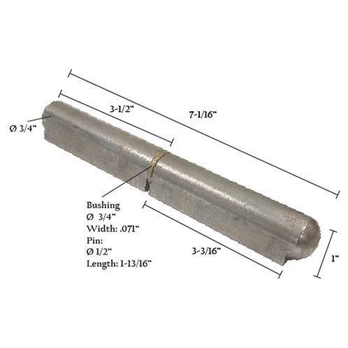 "Bullet Hinge With Steel Pin & Brass Bushing 7"""