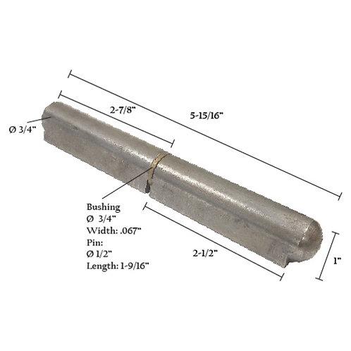 "Bullet Hinge With Steel Pin & Brass Bushing 6"""