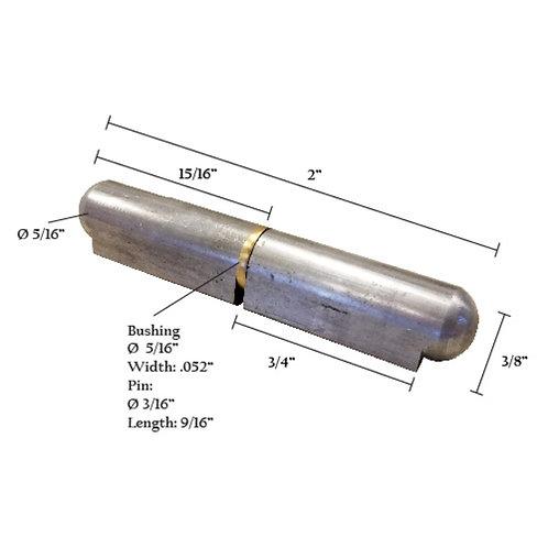 """Bullet Hinge With Brass Pin & Bushing 2"""""""