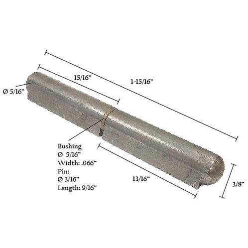 "Bullet Hinge With Steel Pin & Brass Bushing 2"""