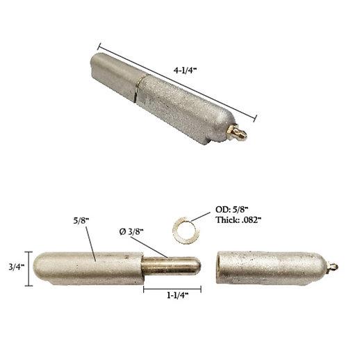 """Aluminum Bullet Hinge, Grease Zerk, Stainless Steel Pin & Bushing 4"""""""