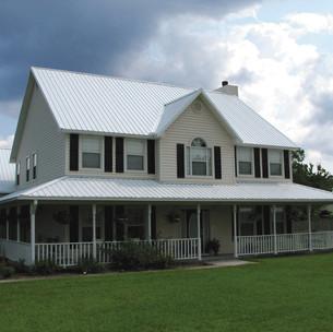 Polar White Metal Roof
