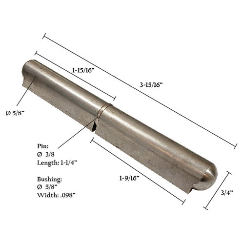 """Stainless Steel Bullet Hinge With Stainless Steel Pin & Bushing 4"""""""
