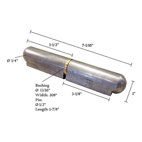 """Bullet Hinge With Brass Pin & Bushing 7"""""""