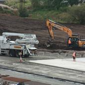 0989 Digger and Camfaud Concrete Pump