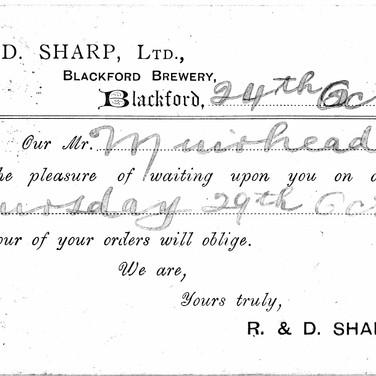 617 Postcard to Lumsden Spirit Merchant