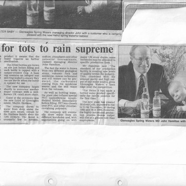 946 Gleneagles Spring Water News Article