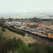 0961 Cranes and Class 66-415
