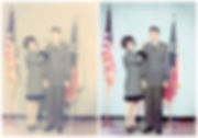 Quince Parents 1968 Army Comission Befor
