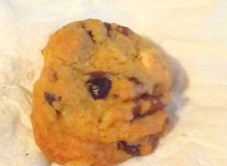 Cookie- Recipe: White Chocolate Cranberry