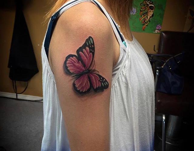 #butterflytattoo done by artist _chrisqu