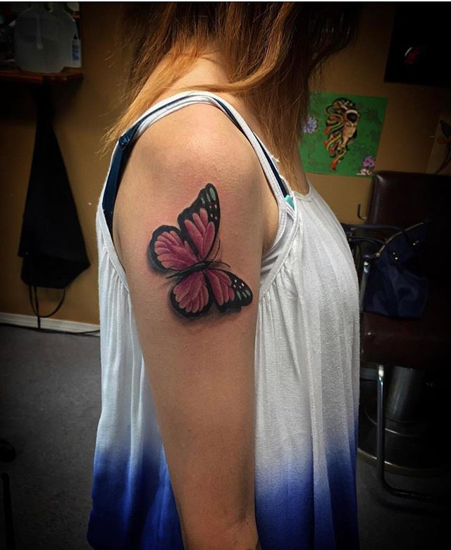 #butterflytattoo done by artist _chrisqu