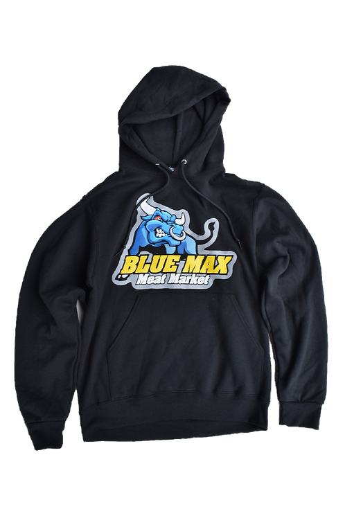 Blue Max Pullover Hoodie (Colored Logo)