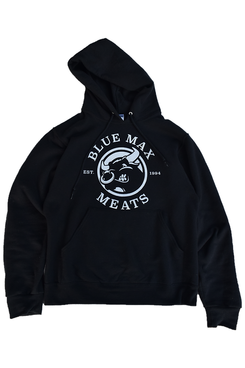 Blue Max Pullover Hoodie (White Logo)