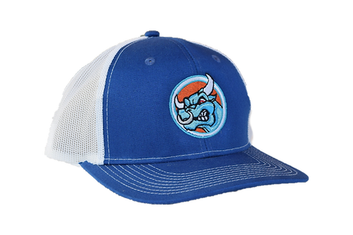 Blue/White Snapback Trucker Cap