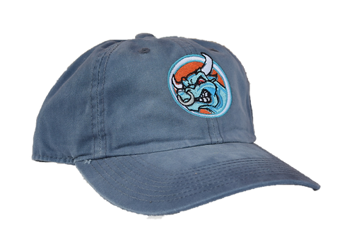 Faded Blue Velcro Adjustable Cap