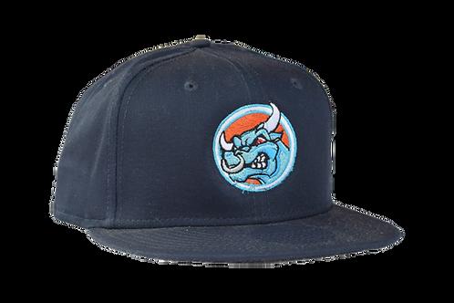 Blue Flat Bill Snapback Cap