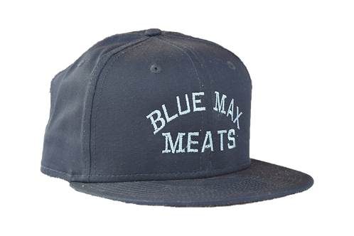 Blue Flat Bill Snapback Cap