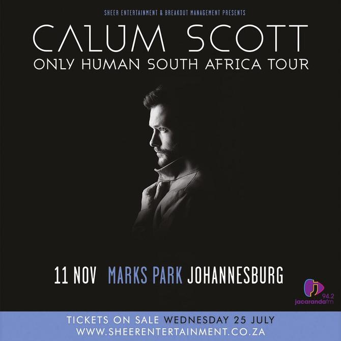 Calum Scott to Tour Durbs Due to High Demand.