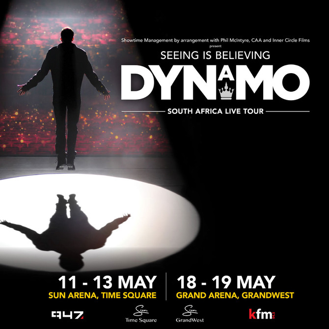 Friday 11 May : MAGICIAN IMPOSSIBLE, DYNAMO ON STAGE IN SA NEXT WEEK