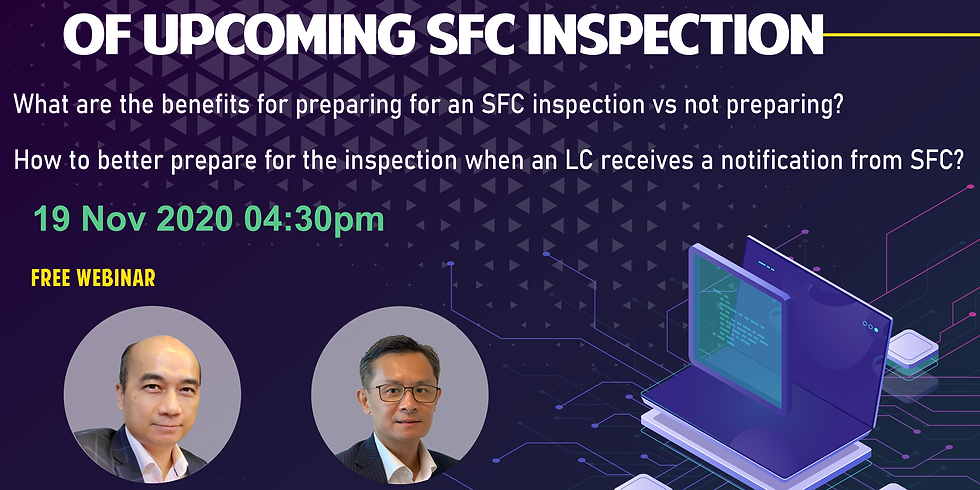 [19/11] Keys to effective preparation of upcoming SFC inspection