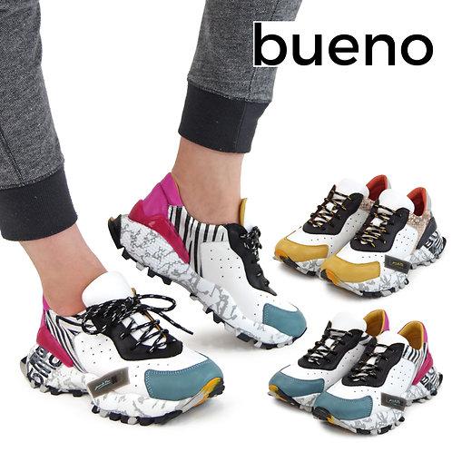 【BUENO SHOES ブエノシューズ】トルコ製 レザー ハイテクスニーカー【Q10600】