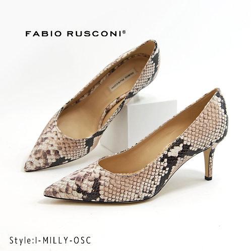 【FABIO RUSCONI ファビオ ルスコーニ】イタリア製 ポインテッドトウパンプス【MILLY】パイソン