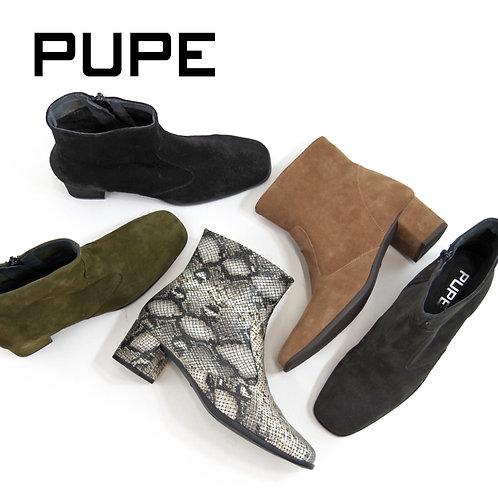 【PUPE プーペ】スペイン製 スクエアトゥブーツ【1600-1 1600-4】