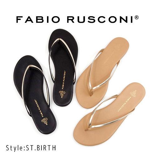 【FABIO RUSCONI ファビオ ルスコーニ】イタリア製/レザービーチサンダル【ST BIRTH】