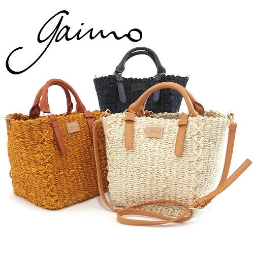 【Gaimo/ガイモ】かごバッグ 2WAYバッグ クリアポケット付き 【RIO】