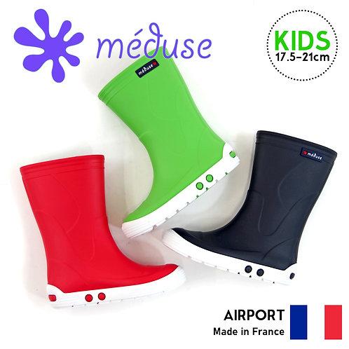 【MEDUSE メデュース】キッズサイズ【AIRPORT】メディウス ショートブーツ レインブーツ 完全防水 長靴 雨 レインシューズ