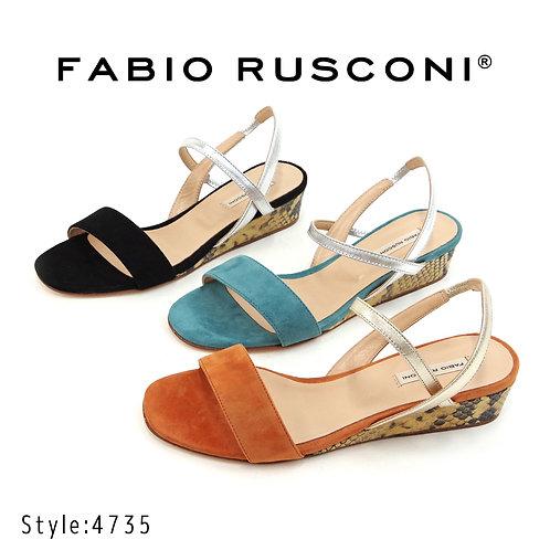 【FABIO RUSCONI ファビオ ルスコーニ】イタリア製/ストラップウエッジサンダル【4735】