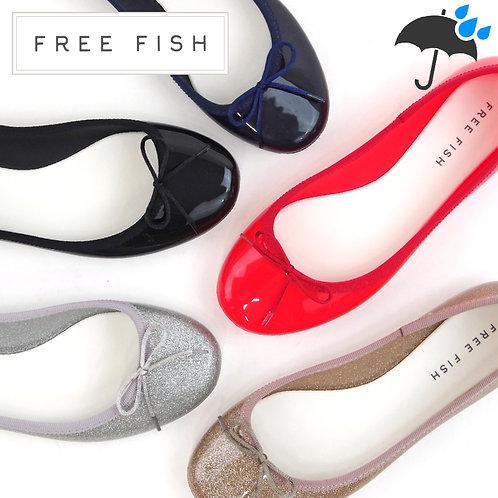 【FREE FISH フリーフィッシュ】ラウンドトゥレインパンプス【RAY BOW】
