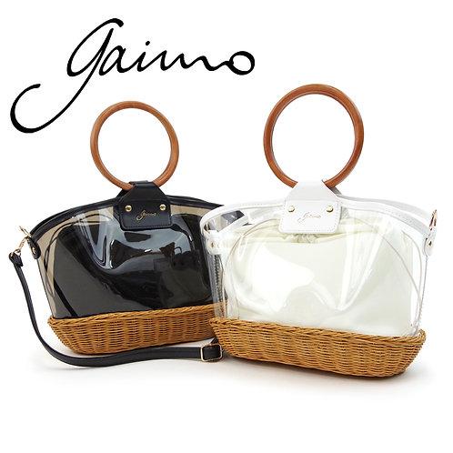【Gaimo/ガイモ】クリア2WAYバッグ ショルダーバッグ ハンドバッグ【ANA PVC】