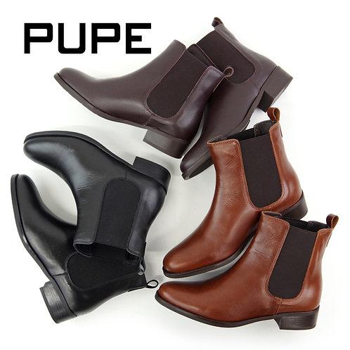 【PUPE プーペ】スペイン製 サイドゴア ショートブーツ【1215】