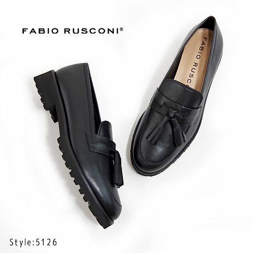 【FABIO RUSCONI ファビオ ルスコーニ】イタリア製 レザー タッセルローファー【5126】