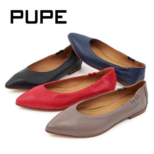 【PUPE プーペ】スペイン製 レザーフラットパンプス【2350】