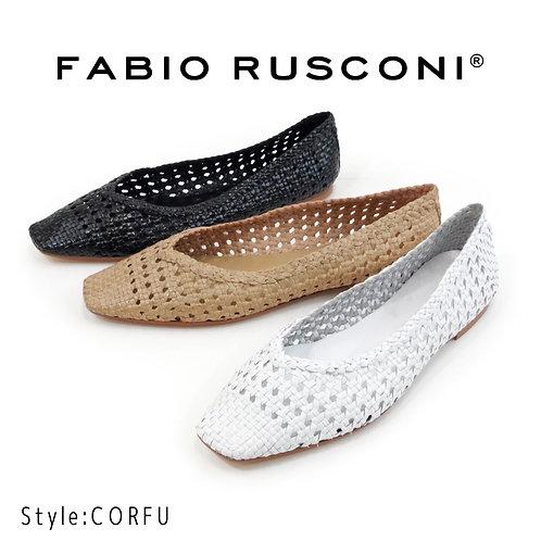 【FABIO RUSCONI ファビオ ルスコーニ】イタリア製/メッシュパンプス【CORFU】