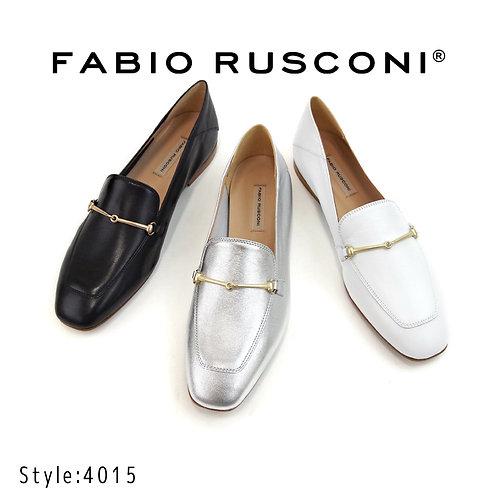 【FABIO RUSCONI ファビオ ルスコーニ】イタリア製 バブーシュビットローファー【4015】