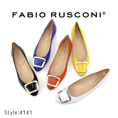【FABIO RUSCONI ファビオ ルスコーニ】イタリア製/フラットモチーフパンプス【4141】