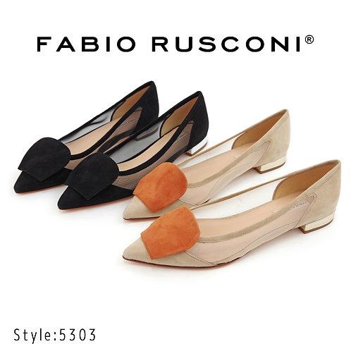 【FABIO RUSCONI ファビオ ルスコーニ】イタリア製 モチーフパンプス【5303】