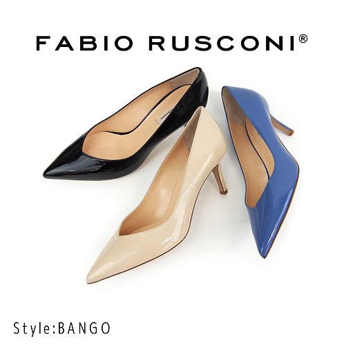 【FABIO RUSCONI ファビオ ルスコーニ】イタリア製 レザー パンプス【BANGO】エナメルレザー