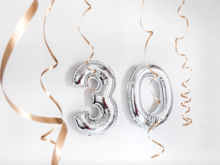What does turning 30 means financially?