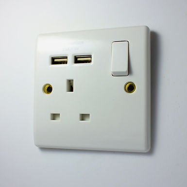BG 13 Amp Wall Socket with 2 USB Charger (2.1A Output)