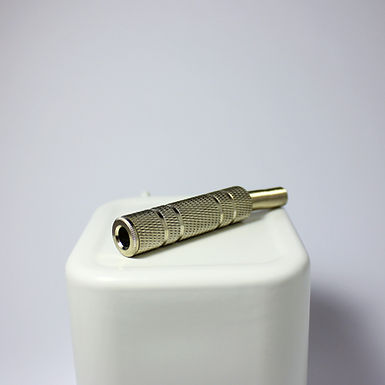 6mm Jack Female Connector Stereo Silver