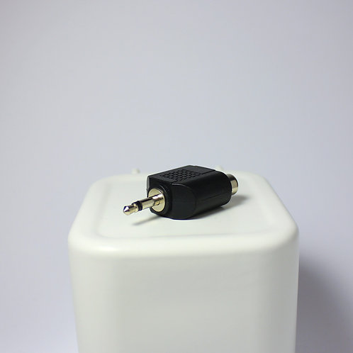 3.5mm Male to 2 RCA Female Connector